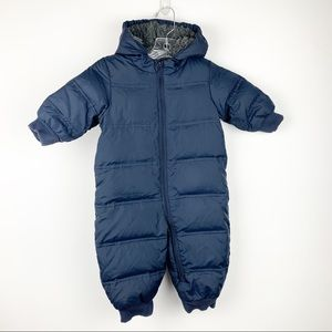 Gap Baby Boy Navy Snowsuit Puffer Coat 12-18 Month